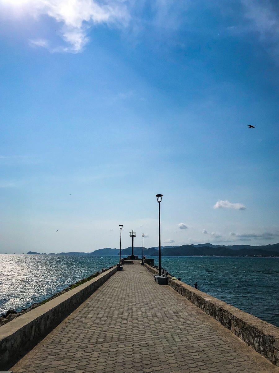 malecon or boardwalk in barra de navidad jalisco