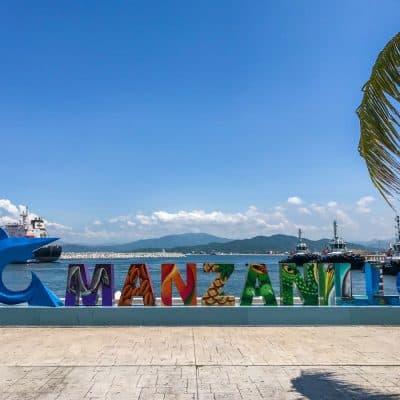 manzanillo colorful sign