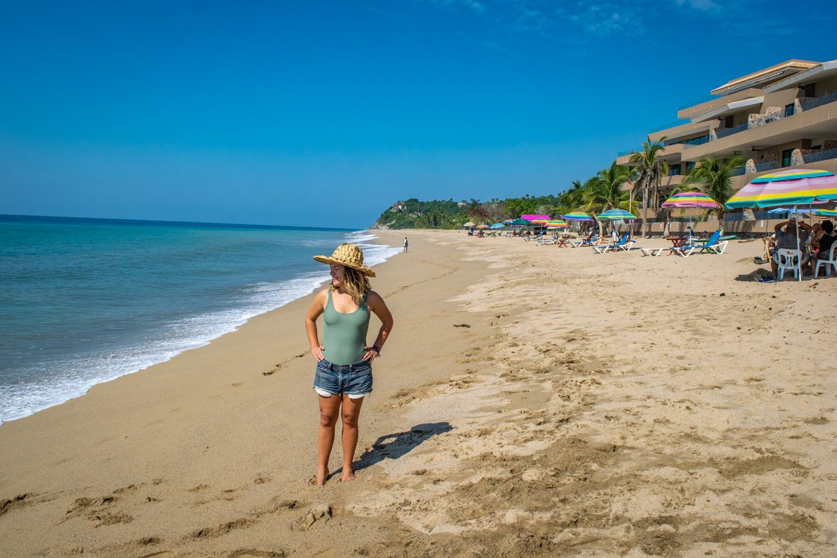 standing on the sands of san pancho