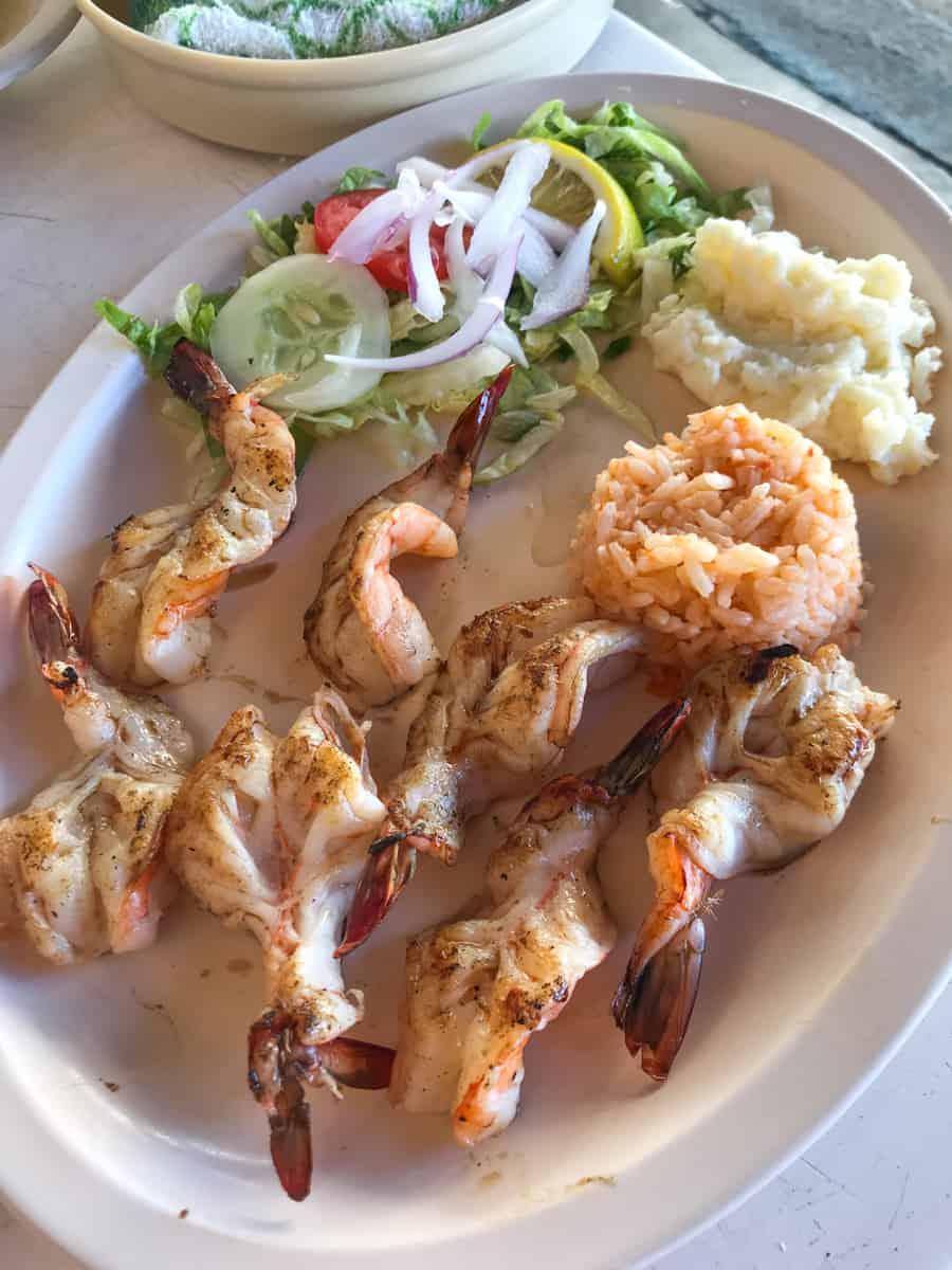 shrimp from the best restaurant in Mazatlan