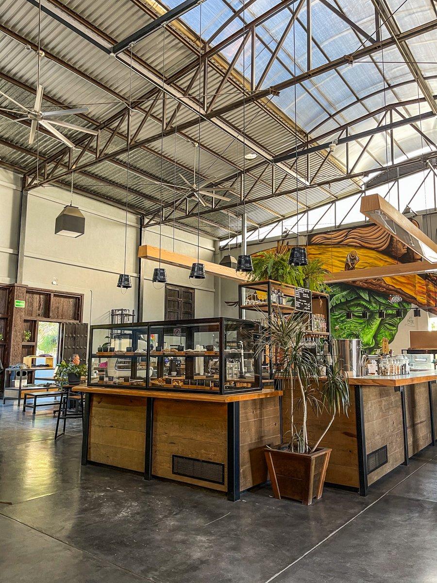 the inside of Cafe Doce Cuarenta