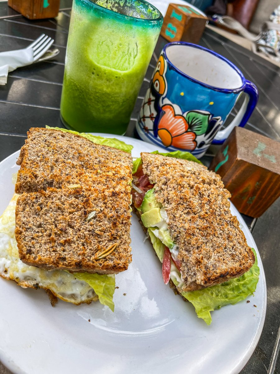 egg sandwich from la esquina