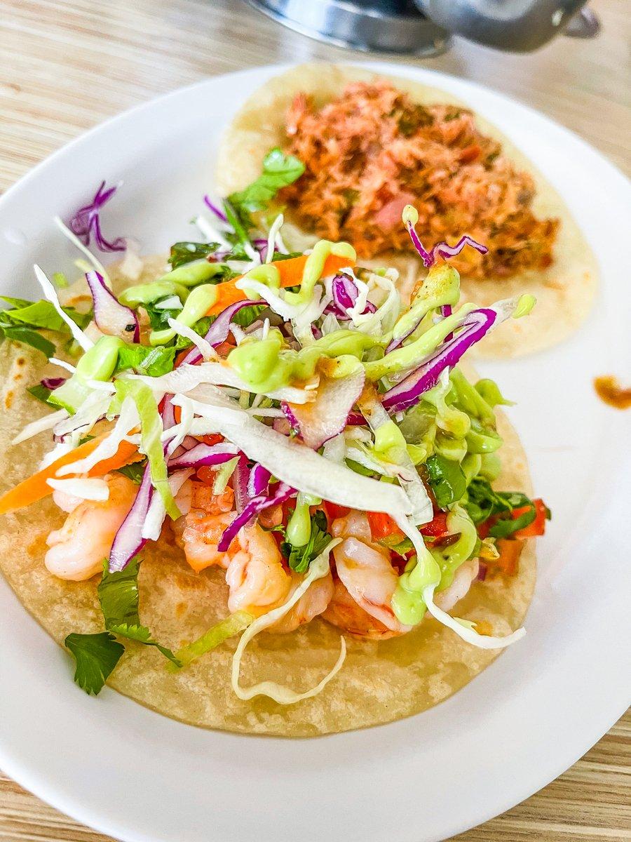 fish tacos from gardenias