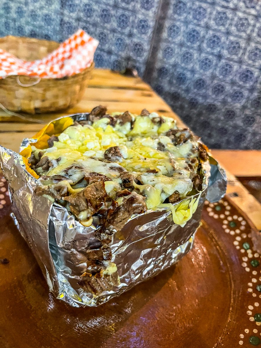 papa rellena or stuffed potato from los guacamayas
