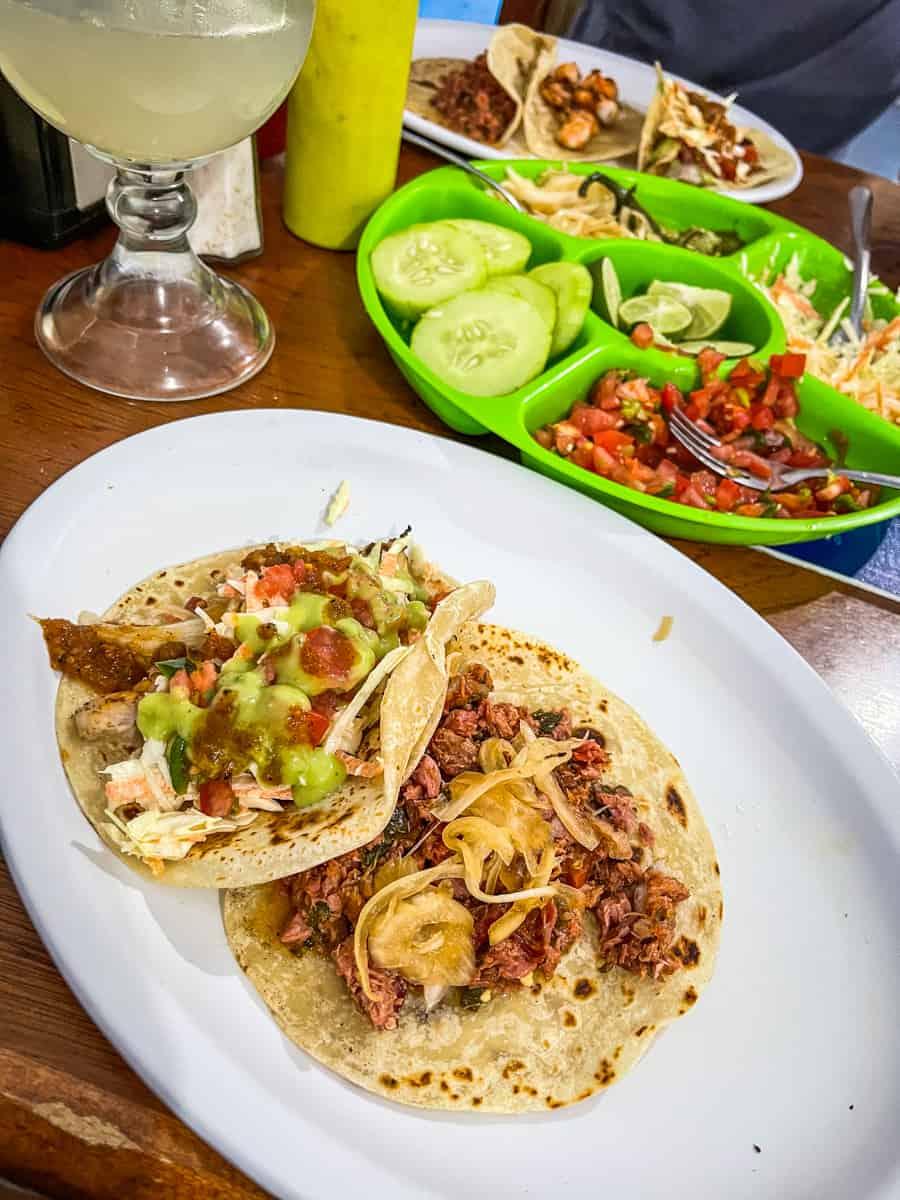 fish tacos from taqueria rossy in san jose del cabo