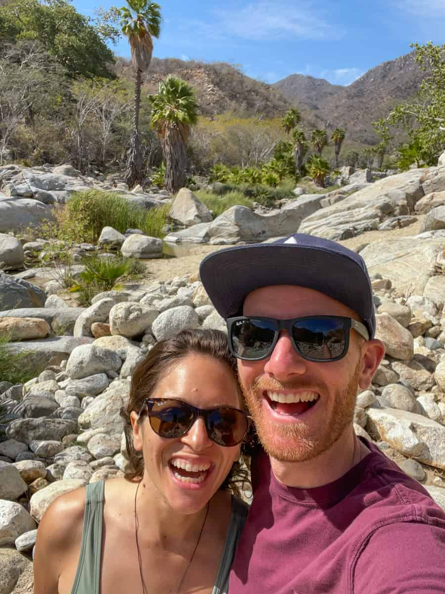 Luke and I hiking in Santiago Mexico