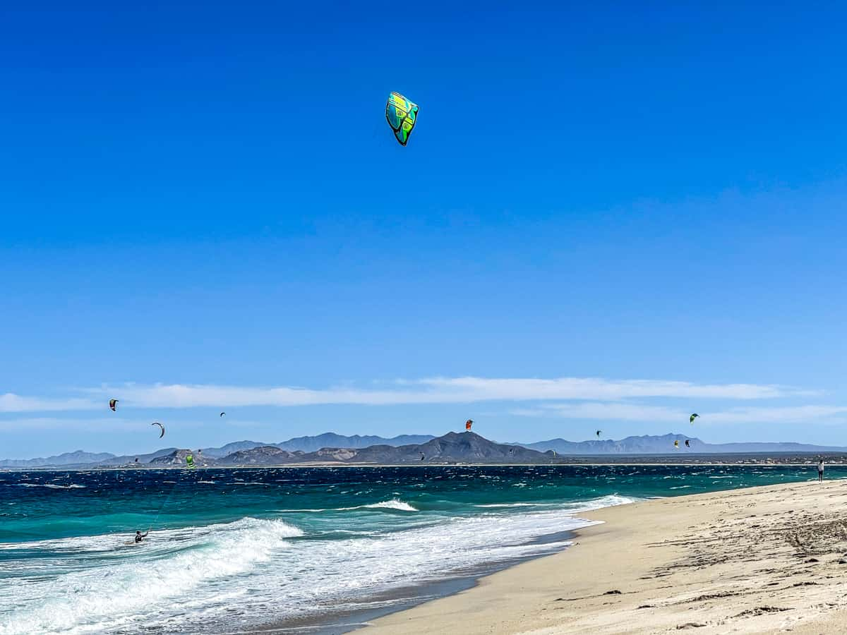 Windsurfing beach in Los Barriles Mexico