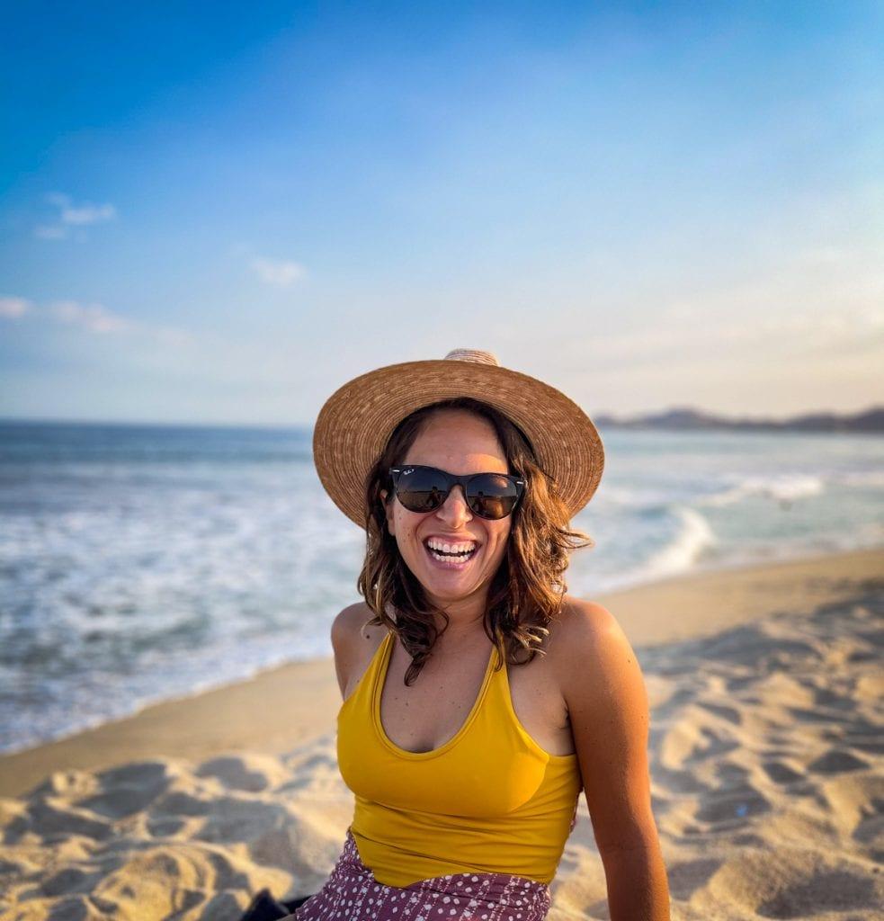Laura Bronner on the beach