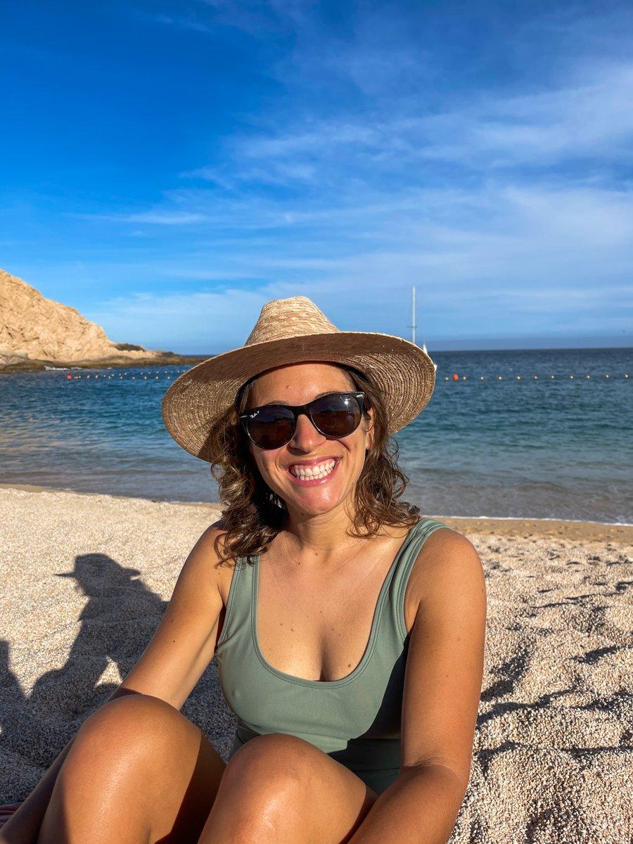 enjoying the beach at San Jose del Cabo