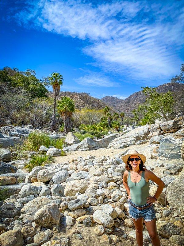 standing in fox canyon in baja california sur