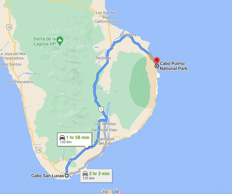 driving directions from cabo san lucas to Cabo Pulmo