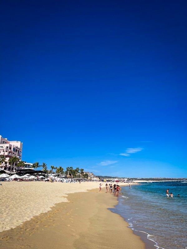 quiet beaches of Cabo San Lucas Mexico