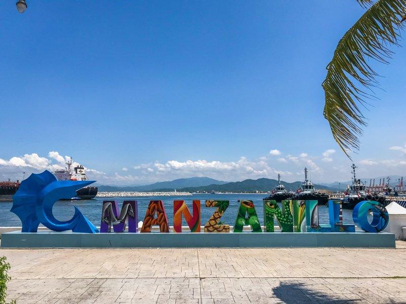 Colorful sign in Manzanillo Mexico