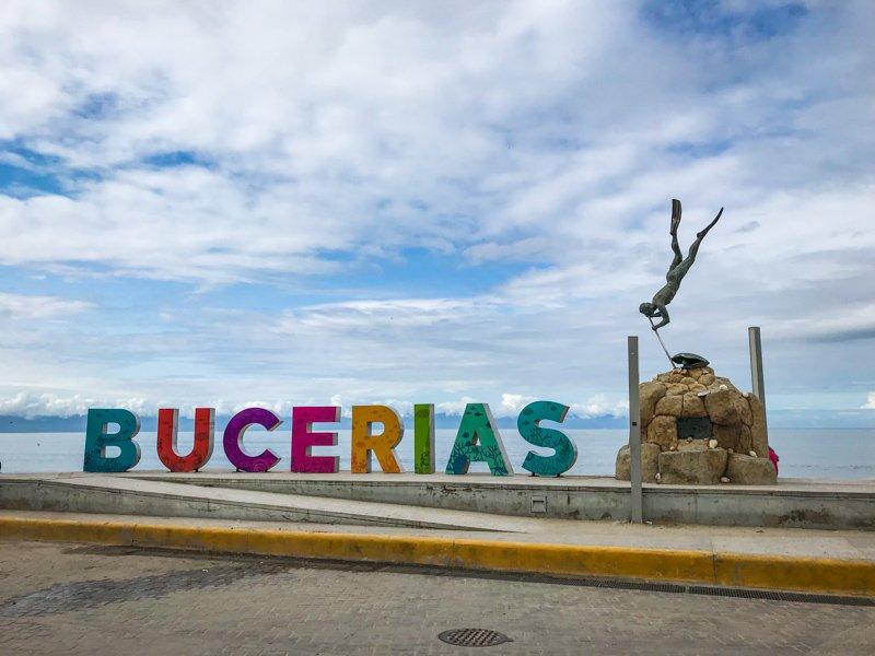Colorful Bucerias Mexico sign