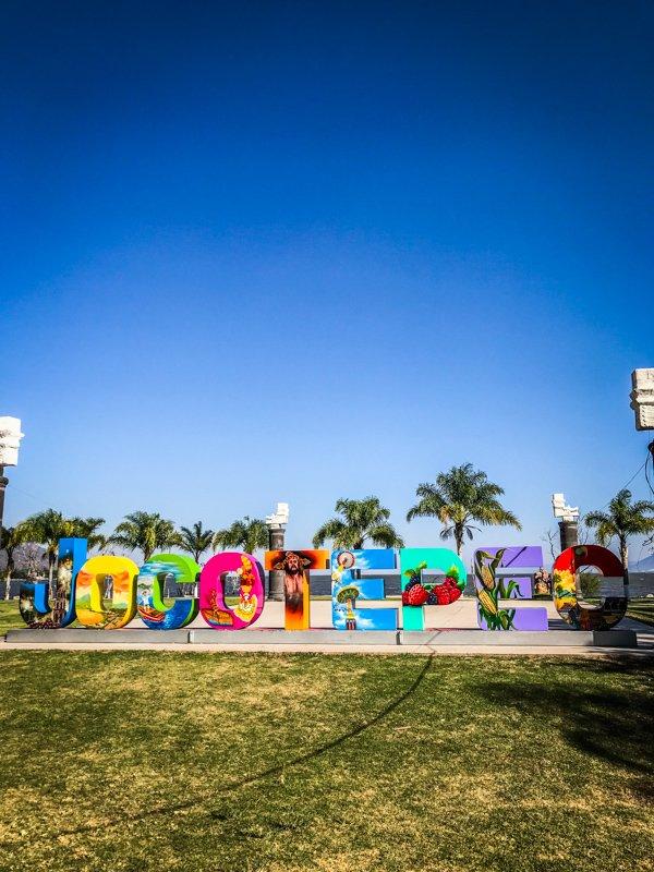 colorful sign of Jocotepec in Lake Chapala