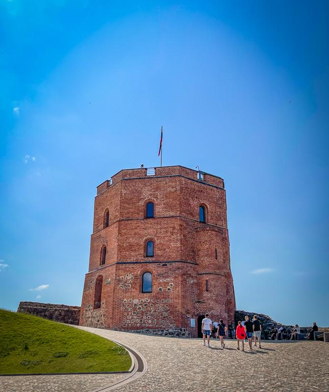 gediminas tower vilnius lithuania