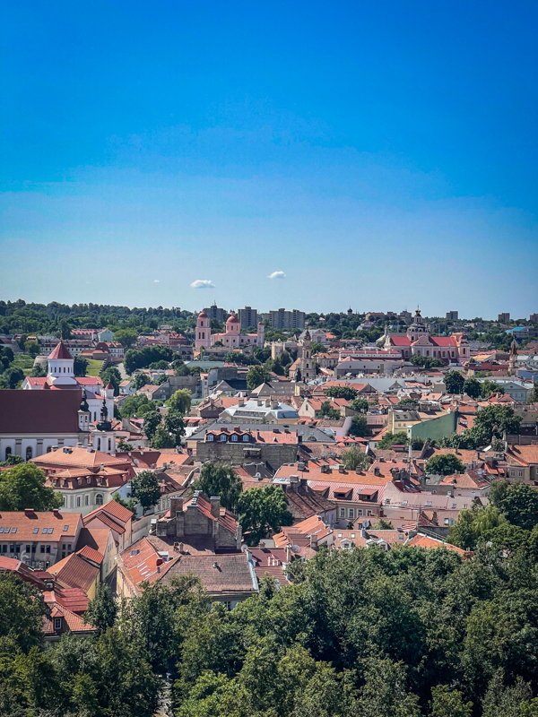 views of Vilnius old town