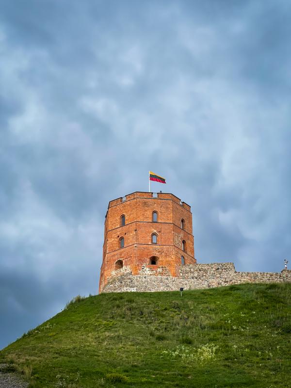 gediminas tower in vilnius lithuania